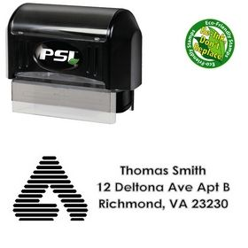 PSI Pre-Ink A College Halo Creative Address Stamp