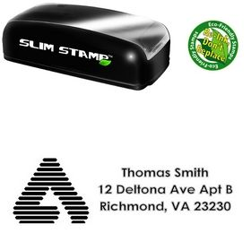 Slim Pre-Ink A College Halo Creative Address Stamp