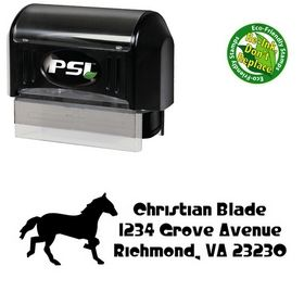 Pre-Inked Horse Crystal Radio Kit Customized Address Stamp