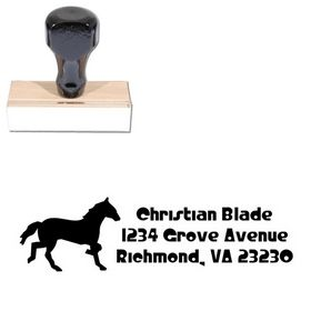 Horse Crystal Radio Kit Customized Address Stamp