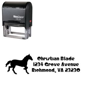 Self Ink Horse Crystal Radio Kit Customized Address Stamp