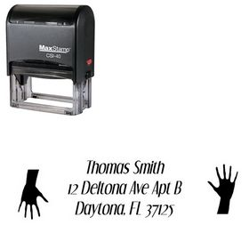 Self Inking Hand Dream Orphans Inking Address Stamp