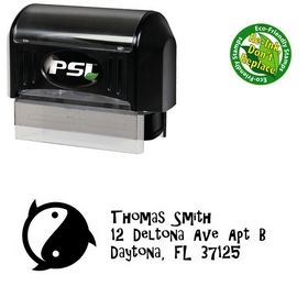 Pre-Inked Ying Yang Gilligans Island Personal Address Stamp