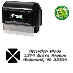 Pre-Ink Clover Tickertape Personalized Address Stamp