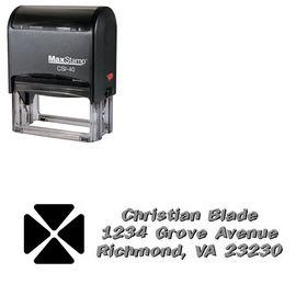 Self-Inking Clover Tickertape Personalized Address Stamp