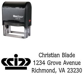 Self Inking Crown Drummon Narrow Custom Address Stamper
