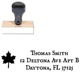 Leaf Dominican Address Ink Stamp