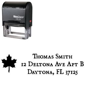 Self-Ink Leaf Dominican Address Ink Stamp
