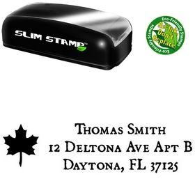Portable Leaf Dominican Address Ink Stamp