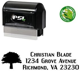 Pre-Inked Tree Engebrechtre Personal Address Ink Stamp
