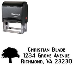 Self Inking Tree Engebrechtre Personal Address Ink Stamp