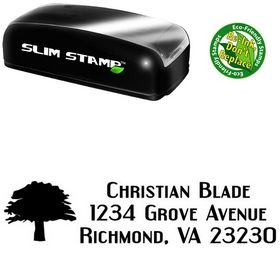 Slim Pre-Ink Tree Engebrechtre Personal Address Ink Stamp