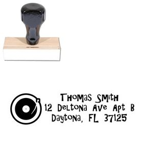 Turntable Gilligans Island Personalized Address Ink Stamp
