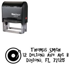 Self-Ink Turntable Gilligans Island Personalized Address Ink Stamp