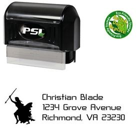 PSI Pre-Ink Knight Crystal Return Address Ink Stamp