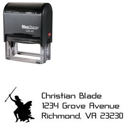 Self-Inking Knight Crystal Return Address Ink Stamp