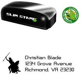 Slim Pre-Ink Knight Crystal Return Address Ink Stamp