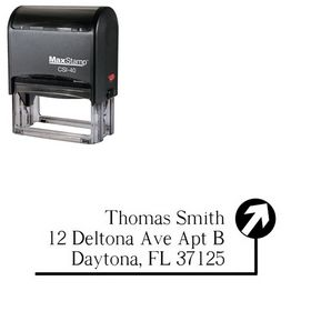 Self Inking Path Roman Custom Address Rubber Stamp