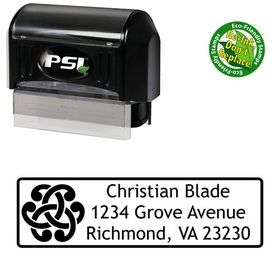 PSI Pre-Ink Links Trebuchet MS Personalized Address Rubber Stamp