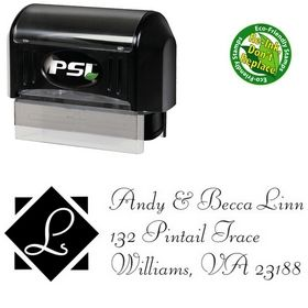 Pre-Inked Diamond Fill Liberty Creative Address Stamp