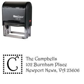 Self Ink Dots Harrington Custom Address Stamp