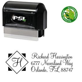 Pre-Ink Diamond Monterey Customized Address Stamp