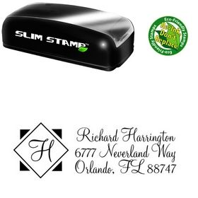 Slim Diamond Monterey Customized Address Stamp