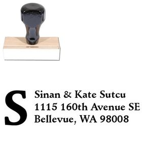 Initial Fill Schneidler Personal Address Stamp