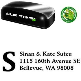Slimline Initial Fill Schneidler Personal Address Stamp
