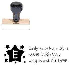 Stars Kidprint Personalized Address Stamp