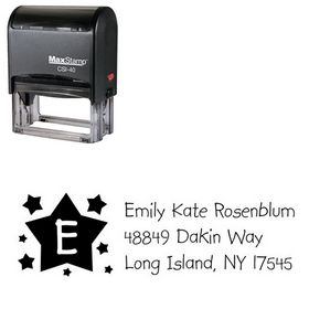 Self Stamping Stars Kidprint Personalized Address Stamp