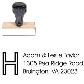 Initial Avant Garde Creative Address Stamper