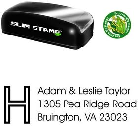 Slim Pre-Ink Initial Avant Garde Creative Address Stamper