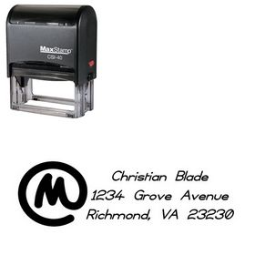 Self-Inking Copyright Violations Customized Address Stamper