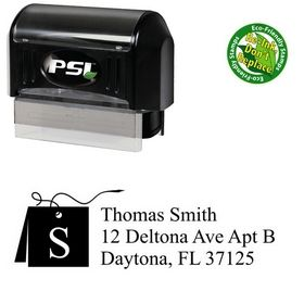 PSI Pre-Ink Card Times New Roman Initial Address Stamper