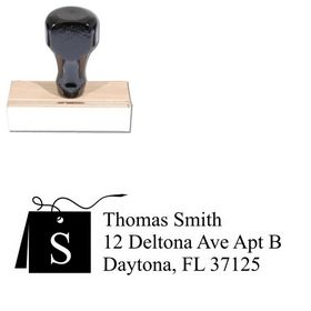 Card Times New Roman Initial Address Stamper