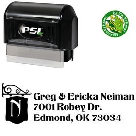 PSI Pre-Ink Titania Monogrammed Address Stamper