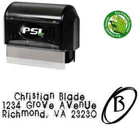 PSI Pre-Inked Tom Violence Personal Address Stamper
