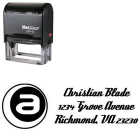 Self Inking A Inside Deftone Stylus Custom Address Ink Stamp