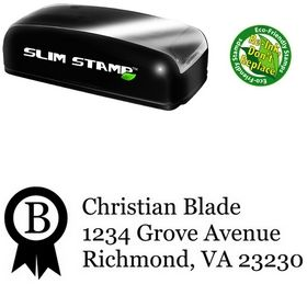 Slim Ribbon Georgia Return Address Ink Stamp