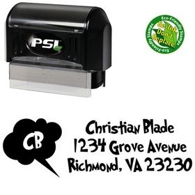 Pre-Inked Grinched Address Rubber Stamp