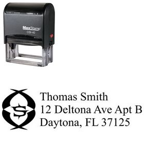 Self Inking Initial New Roman Creative Address Rubber Stamp