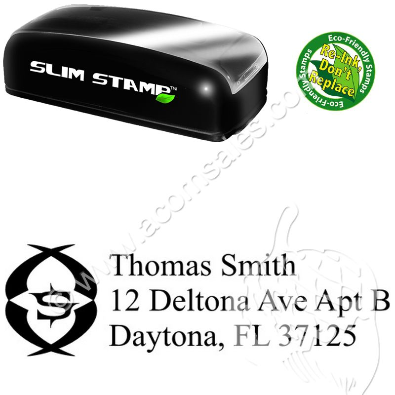 slimline initial stamp creative address rubber stamps