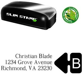 Slim Pre-Ink Super French Custom Address Rubber Stamp