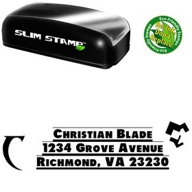 Portable Shadow Tag Personalized Address Rubber Stamp
