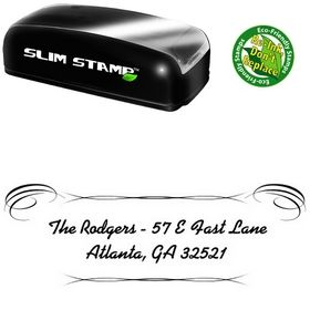 Slim Pre-Ink Alako Custom Address Stamp