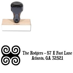 Swirls Duality Personal Address Stamp