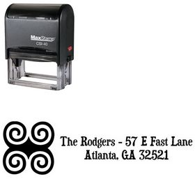 Self Stamping Swirls Duality Personal Address Stamp