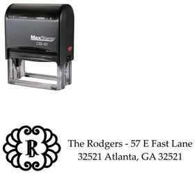 Self-Inking Initial Palatino Custom Address Stamper