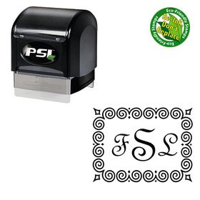 PSI Fench Script Custom Made Wedding Monogram Stamp